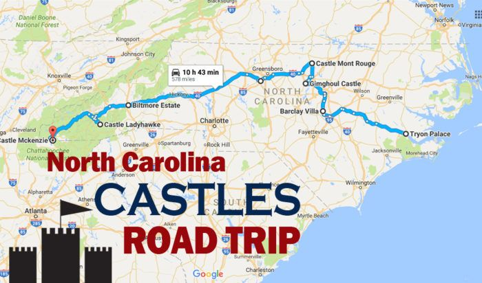 This Road Trip To North Carolina's Most Majestic Castles Is Like Something From A Fairytale