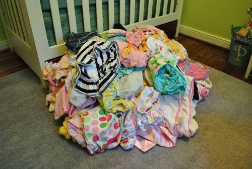 system for storing baby clothes