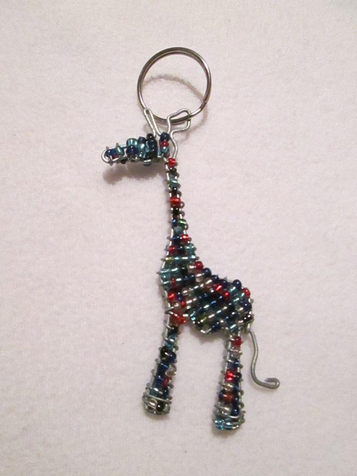 wire art key ring #12