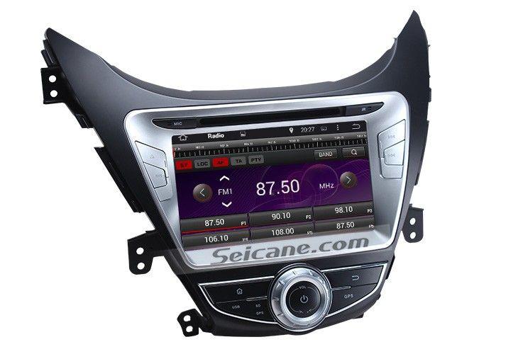 2011 2012 2013 Hyundai Elantra Android 4.4.4 Radio DVD player GPS navigation system