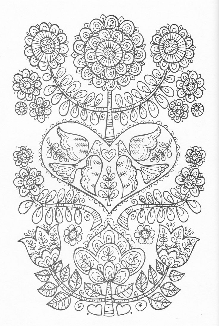 The tula pink coloring book - Scandinavian Coloring Book Pg 24