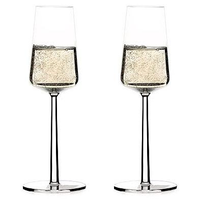 Modern Champagne Glasses-Alfredo Haberli: Essence Champagne Flutes