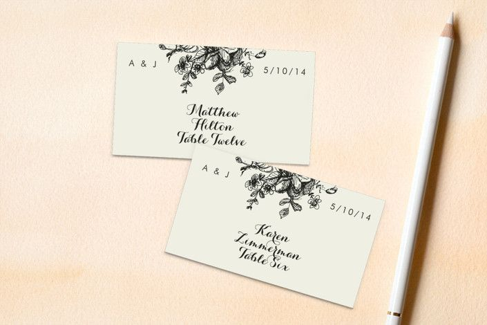 Elegance Illustrated Wedding Place Cards by Phrosn...   Minted