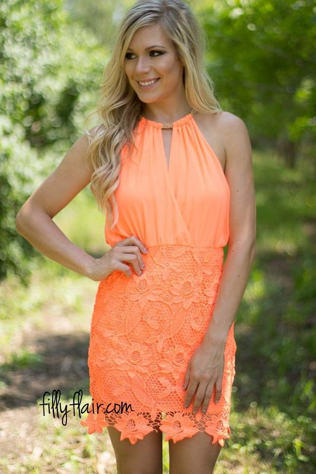 If you are looking for a neon homecoming dress this is a great choice.