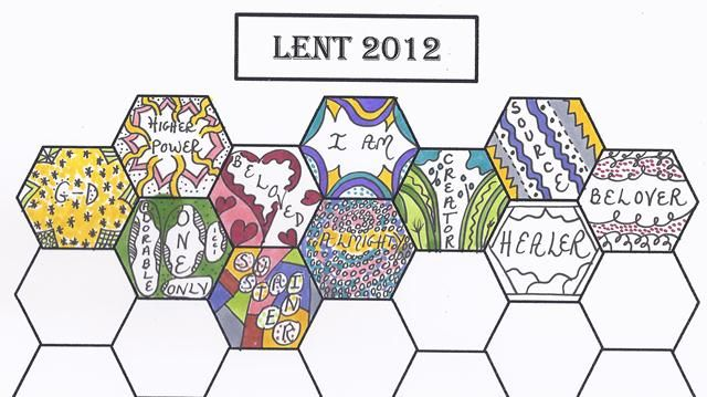 lent prayer calendar!Love the idea of visualizing a word from each day's devotion.