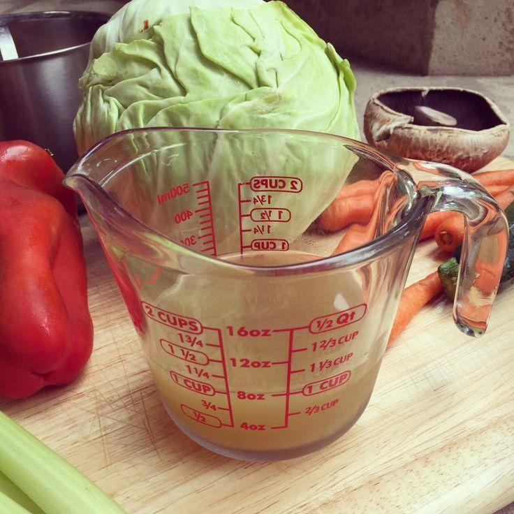 Домашний овощной бульон (веганский)
