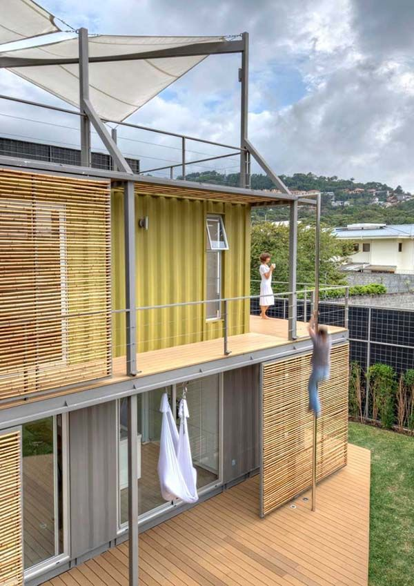 Sustainably designed shipping container home in Costa Rica