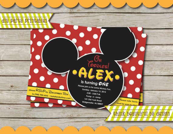 7 best Baby Lili images on Pinterest Minnie mouse party, Mouse - unique mickey mouse invitations