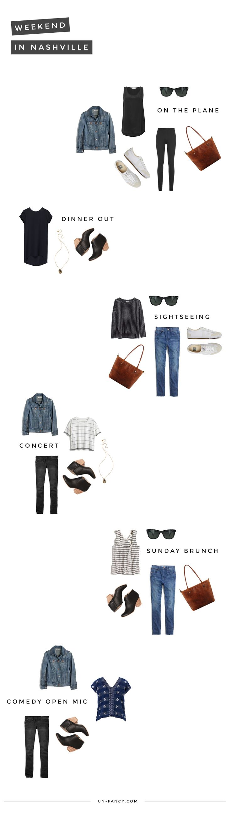 nashville: a weekend of outfits   a packing list