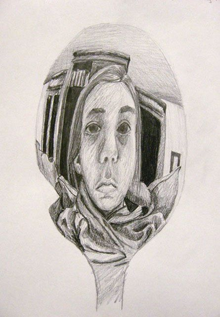 spoon reflections, new take on self-portraits