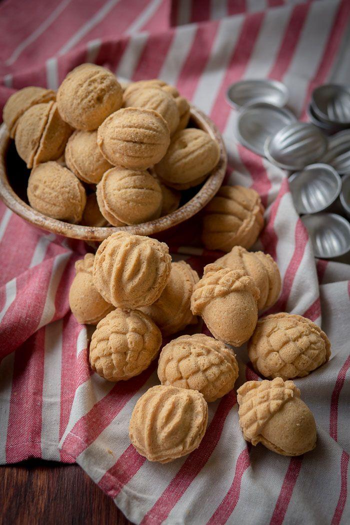 Walnut Shaped Cookies w/ Dulce de Leche filling
