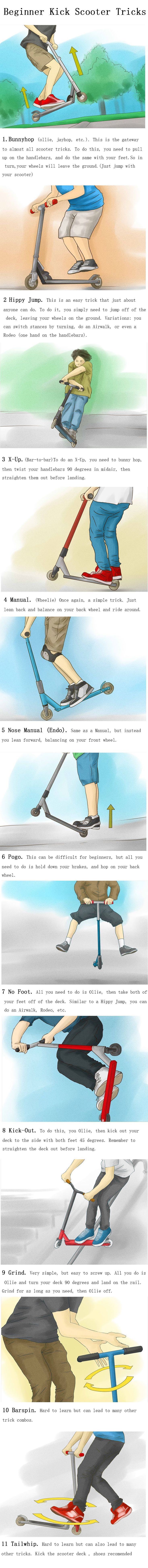 How to Do Beginner Kick Scooter Tricks
