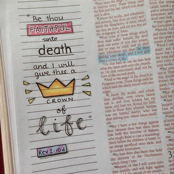 Revelation 2:10 Susyan Crafts: Journaling Bible