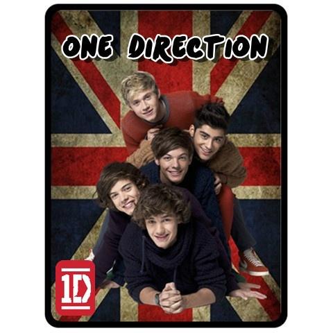 One Direction 1D Vintage Union Jack Flag Fleece Blanket