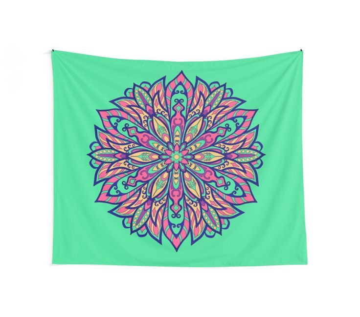 """""""Colorful bright Complicated Mandala. Tribal style."""" Wall Tapestries by kakapostudio 