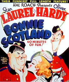 Bonnie Scotland    Theatrical poster  Directed by	James W. Horne  Produced by	Stan Laurel  Hal Roach  Written by	Frank Butler  Jefferson Moffitt  Stan Laurel  Albert Austin  Wilson Collison  James W. Horne  Charley Rogers  Starring	Stan Laurel  Oliver Hardy  June Lang  William Janney  Anne Grey  Vernon Steele  Jimmy Finlayson  Music by	Marvin Hatley  Leroy Shield  Cinematography	Art Lloyd  Walter Lundin  Editing by	Bert Jordan  Distributed by	Metro-Goldwyn-Mayer  Release date(s)	August 23…