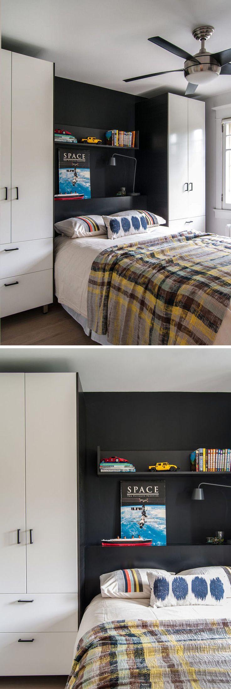 Спальня дизайн идеи - 8 способов создать окончательный кровать окружить хранения // определение спальном районе-используйте смелые цвета или другого материала, чем то, что использовалось на остальные шкафы комплекты постели не только для хранения и добавляет цвет и текстуру в комнату.