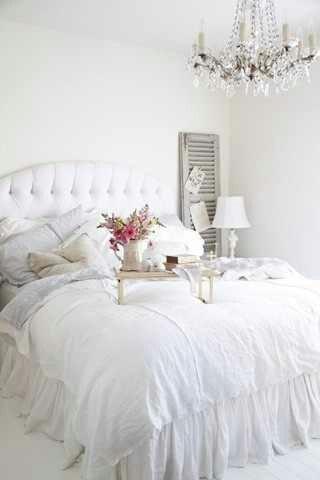 Glamorous White Bedroom Bedrooms Pinterest White
