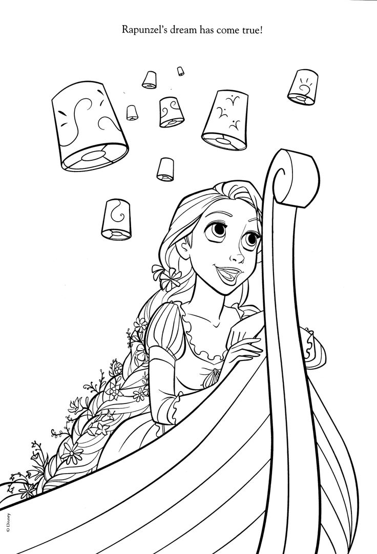 Disney princess winter coloring pages - Tangled Coloring Pages Disney Coloring Pages
