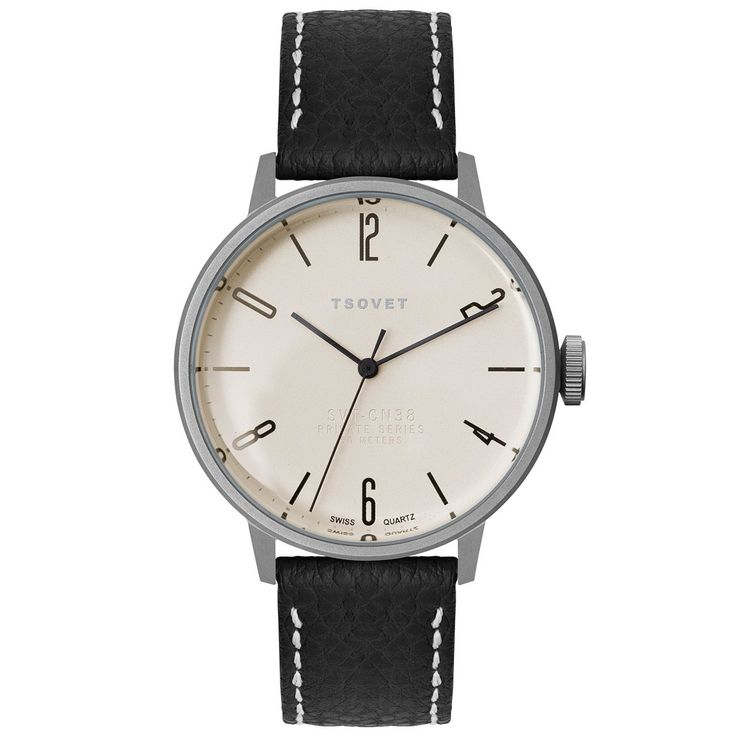 TSOVET SVT-CN38 (White & Black Leather)