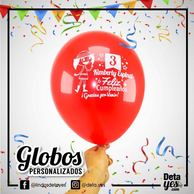 Globos Personalizados para Fiesta de Cumpleaños,  Somos @deta_yes  , Envíos a Toda Colombia, Pedidos 31856657519