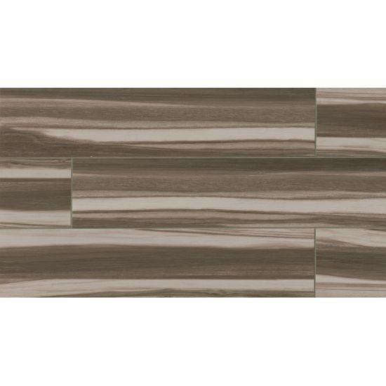 Bedrosians Arrowhead Series Glazed Wood Look Ink Jet Porcelain Field Tile Color Nero 8x36