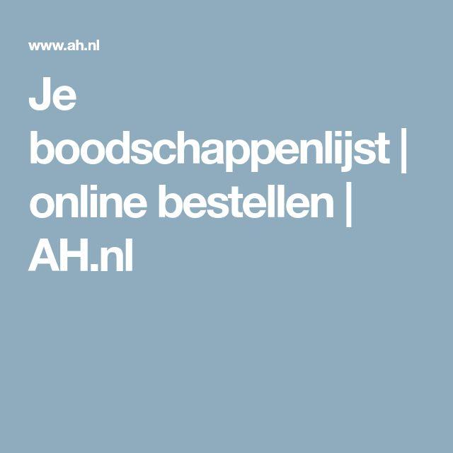 Je boodschappenlijst | online bestellen | AH.nl