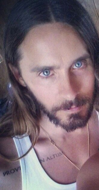 Jared Leto...I'm being pulled into the tractor beam! I'm not even scared. Such beauty...bye world, hello J.