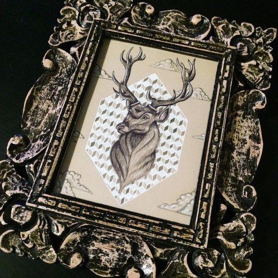 25 best ideas about cerf dessin on pinterest illustration de cerf dessin cerf and cerf - Cadre photo dessin ...