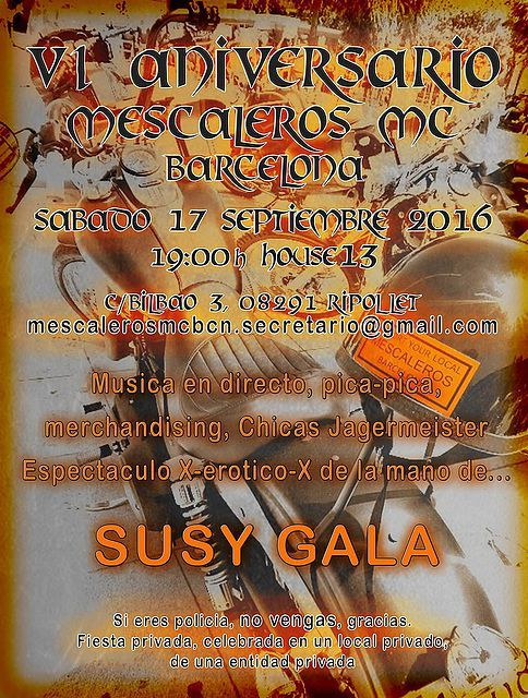 FORO DESGUACE - VI Aniversario Mescaleros MC Barcelona - CONCENTRAS, FIESTAS Y…