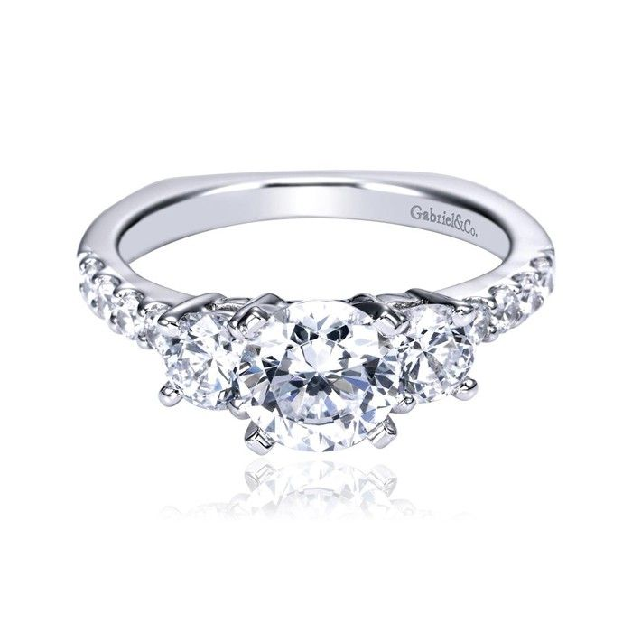 Gabriel & Co Engagement Ring Gabriel & Co Bridal Pinterest