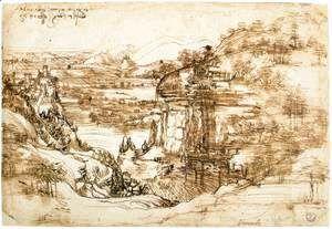 Landscape drawing for Santa Maria della Neve on 5th August 1473  Leonardo Da Vinci