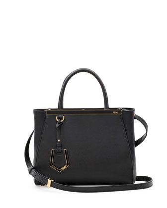2Jours Petite Satchel Bag, Black by Fendi at Neiman Marcus.