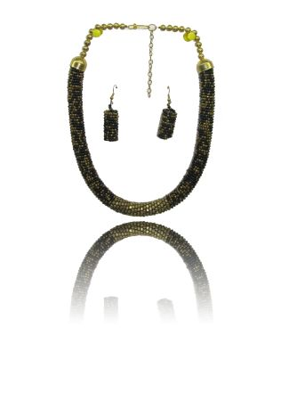 Necklace With Earrings Set: Buy Flexible Cord Necklace And Earrings Online In India for Cheap only at Thia