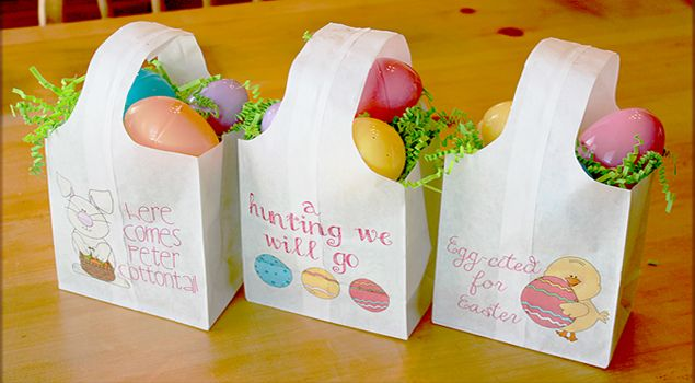 Quick and Easy Paper Easter Egg Hunt Bags!