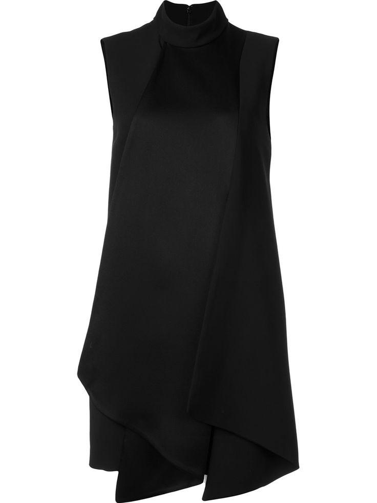Victoria Victoria Beckham объемное платье без рукавов