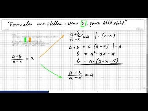 Gleichungen lösen, Klasse7 Teil8_2, auch Probe zu den Übungen - YouTube