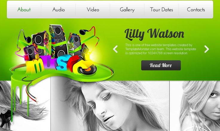 Free Music Website Template – Rock Your Web Project!