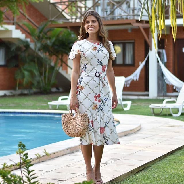 714fcb30da Midi Modas (@midimodas) • Fotos e vídeos do Instagram | vestido dama ...