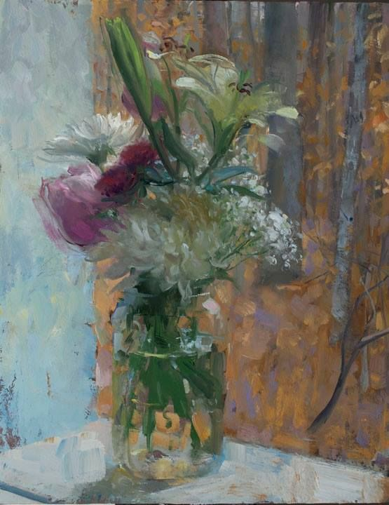 """Bouquet on a Sill"" by Duane Keiser"