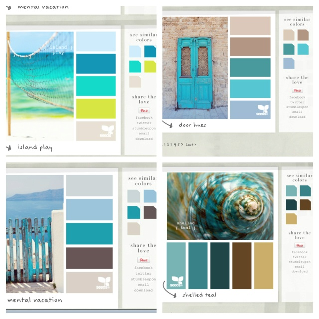 Paint palettes for bedroom color ideas
