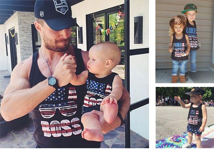 Father & Son Sleeveless Shirt | Price: $10.14 | #babies #pregnancy #kids #mommy #child #love #momlife #babygirl #babyboy #babycute #pregnant #motherhood #photography #photoshoot