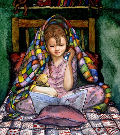 """Bookworm"" by Vian I spent so many hours as a kid reading under the covers with a flashlight. How about you?"