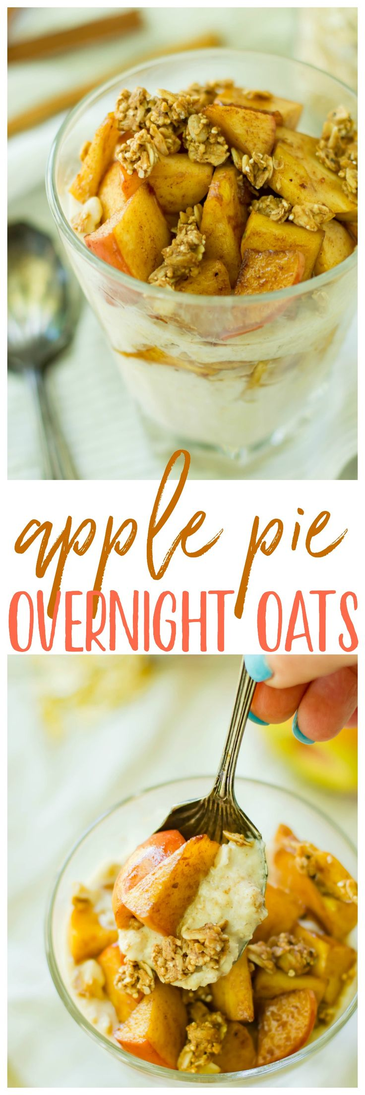 Start the day off right with easy, delicious Apple Pie Overnight Oats and your Renew Life Ultimate Flora Probiotics! The perfect on-the-go back to school meal that can be made in advance with a little boost on the side! AD
