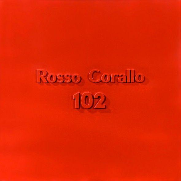 Alighiero Boetti (1940 – 1994) Rosso Corallo 102, 1967, vernice industriale, cartone, lettere e numeri di sughero, 70,5 x 70,5 cm stima € 250.000 – 350.000 Asta 27 novembre 2013 - See more at: http://www.artslife.com/2013/11/25/colori-industriali-pop-invernali-dorotheum/#sthash.mAb4gYUj.dpuf