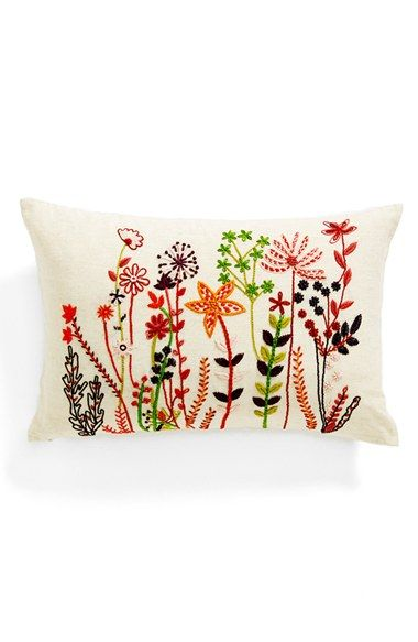 Nordstrom at Home 'Flower Patch' Embroidered Accent Pillow available at #Nordstrom