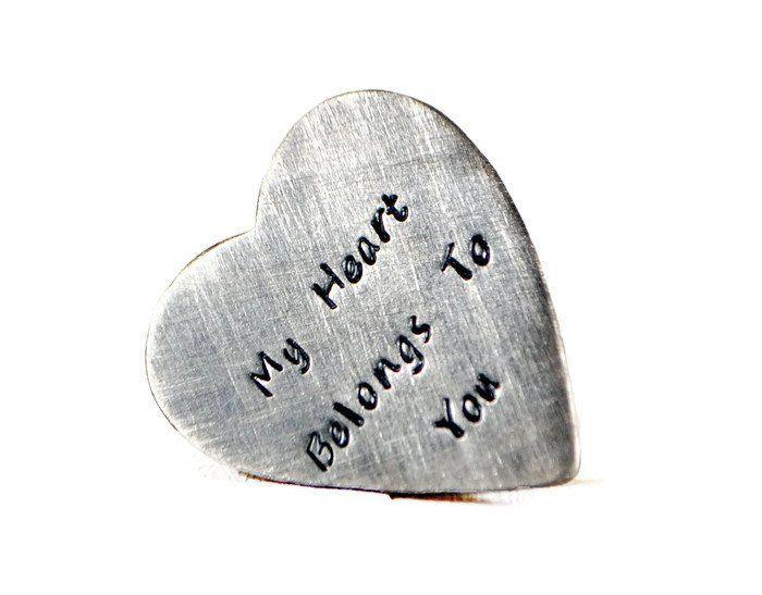 My Heart Belongs To You Personalized Wallet Insert.