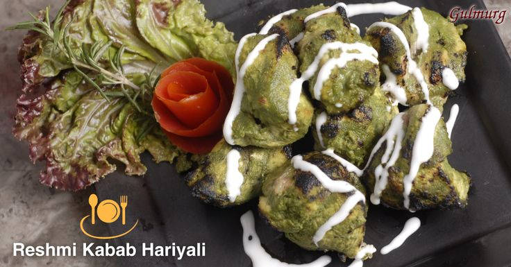 Chicken tenderized with yogurt, marinated with aromatic spices and fresh greens....Entice your taste buds with our barbequed Reshmi Kabab Hariyali.