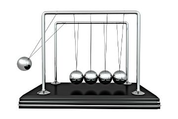 How Newton's Cradles Work - HowStuffWorks The toy illustrates the three main physics principles at work: conservation of energy, conservation of momentum and friction. In this article, we'll look at those principles, at elastic and inelastic collisions, and kinetic and potential energy.
