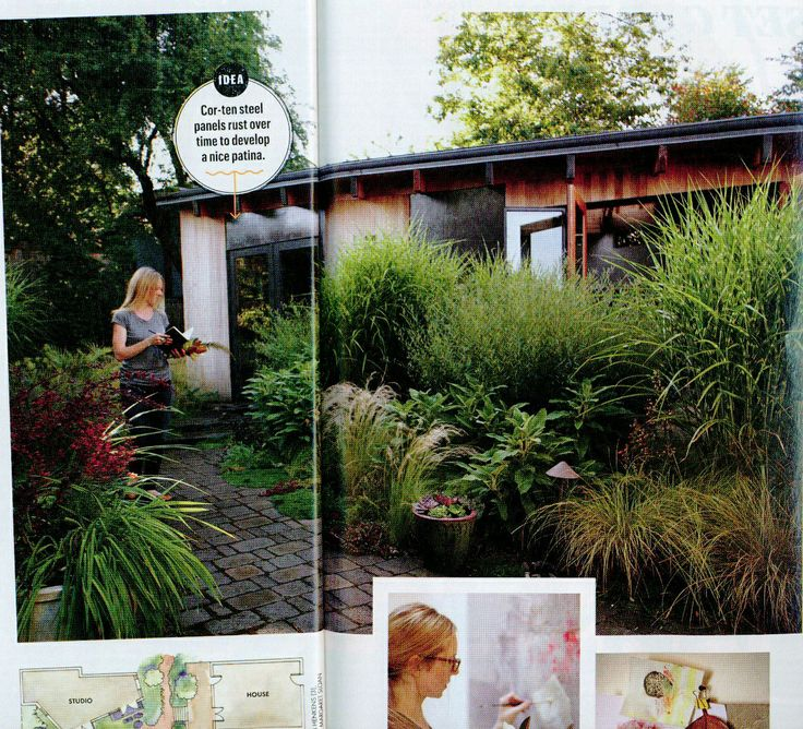 cozy courtyard with lots of low-maintenance (?) textures #sunsetmag